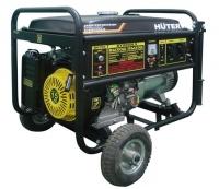 Бензиновый генератор Huter DY8000LX с колесами